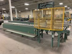 Hytrol 19' Conveyor Line Section w/ Hydraulic Pusher