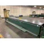 Hytrol 19' Conveyor Line Section w/ Hydraulic Pusher