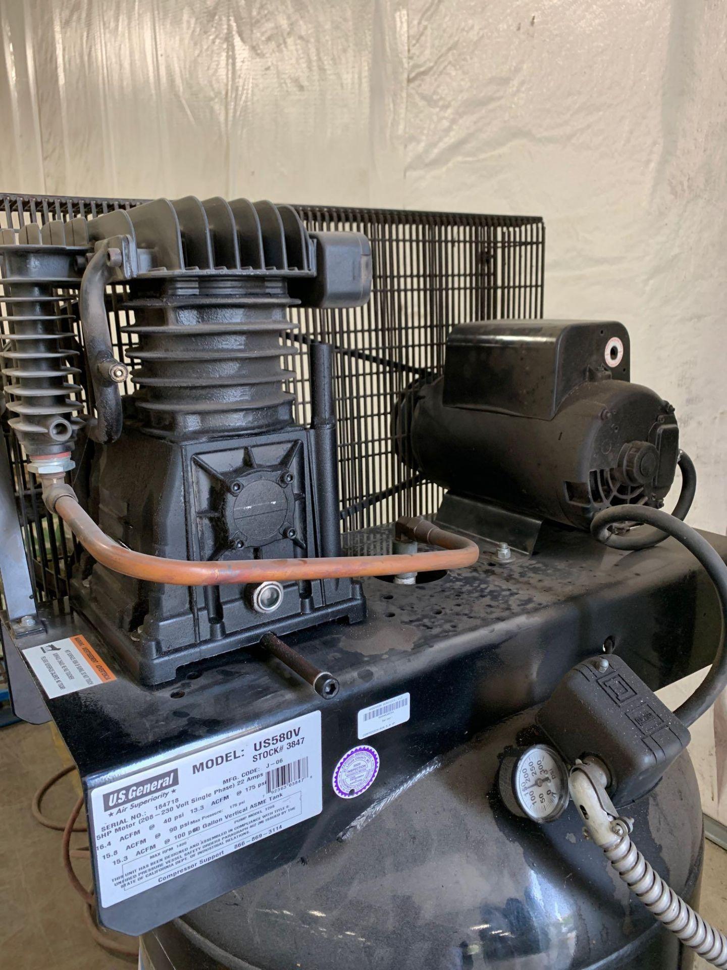 US General 80gal 5HP Air Compressor - Image 4 of 4