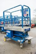 Power Tower battery electric push along scissor lift Year: 2010 08PT0133