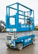 Genie GS1930 battery electric scissor lift Year: 2002 S/N: 53599 Recorded Hours: 347 0883-0001