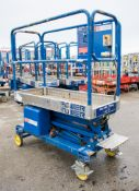 Power Tower battery electric push along scissor lift Year: 2008 08PT0011
