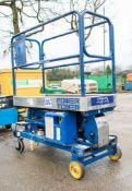 Power Tower battery electric push along scissor lift Year: 2008 08PT0012