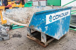Conquip steel tipping skip A956172
