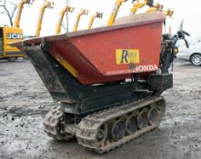 Honda TD500 HL petrol driven walk behind hi-tip tracked dumper Year: 2007 S/N: 1643 P3080 ** No