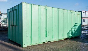 21ft x 9 ft steel anti vandal office site unit c/w keys A219144