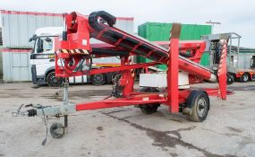 Nifty 170 HDET battery electric/diesel fast tow articulated boom lift Year: 2012 S/N: 24835 S8108