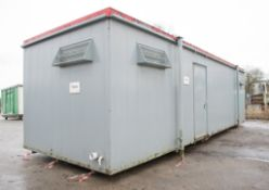 32 ft x 10 ft steel anti-vandal jack leg toilet site unit Comprising of: Lobby, 4 urinals, 4
