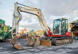 Takeuchi TB285 8.5 tonne rubber tracked excavator Year: 2013 S/N: 185000856 Recorded hours: 6571