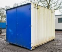 10 ft x 8 ft steel store site unit c/w keys PPSD