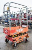 Pop-Up battery electric push along scissor lift access platform 08FT0161
