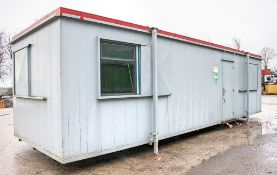 32 ft 10 ft steel anti-vandal jack leg office site unit  Comprising of: Lobby, office & canteen