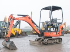 Kubota KX 015-4 1.5 tonne rubber tracked mini excavator  Year: 2014  S/N: 57326 Recorded hours: