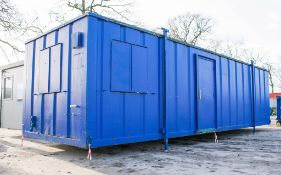 32 ft x 10 ft steel anti vandal office site unit Comprising of: office room & kitchen area c/w
