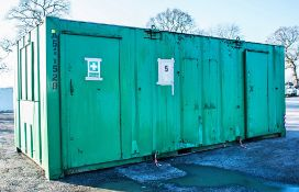 21 ft x 9 ft steel anti-vandal welfare site unit Comprising of: canteen area, toilet & generator