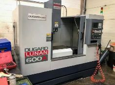 Dugard Lunan 600A CNC Vertical Machining Centre Year: 2014 S/N: KH1410177 Linear Guideways: 45mm