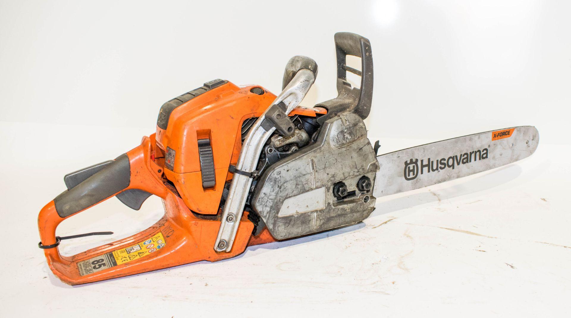 Lot 989 - Husqvarna petrol driven chainsaw ** no blade **