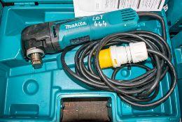 Makita TM 301-0C 110v multi tool c/w carry case A836180