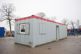 32 ft x 10 ft steel anti vandal office/toilet site unit Comprising of: lobby, office, gent