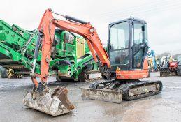 Kubota U25-3 2.5 tonne rubber tracked mini excavator Year: 2013 S/N: 25878 Recorded Hours: 2108