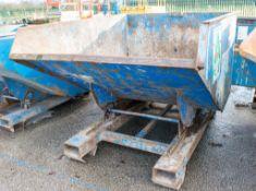 Conquip steel tipping skip A565945