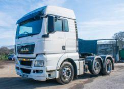 MAN TGX 26.440 manual6 x 2 mid lift 3 axle artic tractor unit Registration number: DG63XME Date