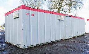 32 ft x 10 ft steel anti vandal jack leg toilet site unit Comprising of: Mens Toilet (2 cubicles,