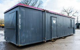 32 ft x 10 ft steel anti vandal jack leg site office unit Comprising of: Office/canteen area &