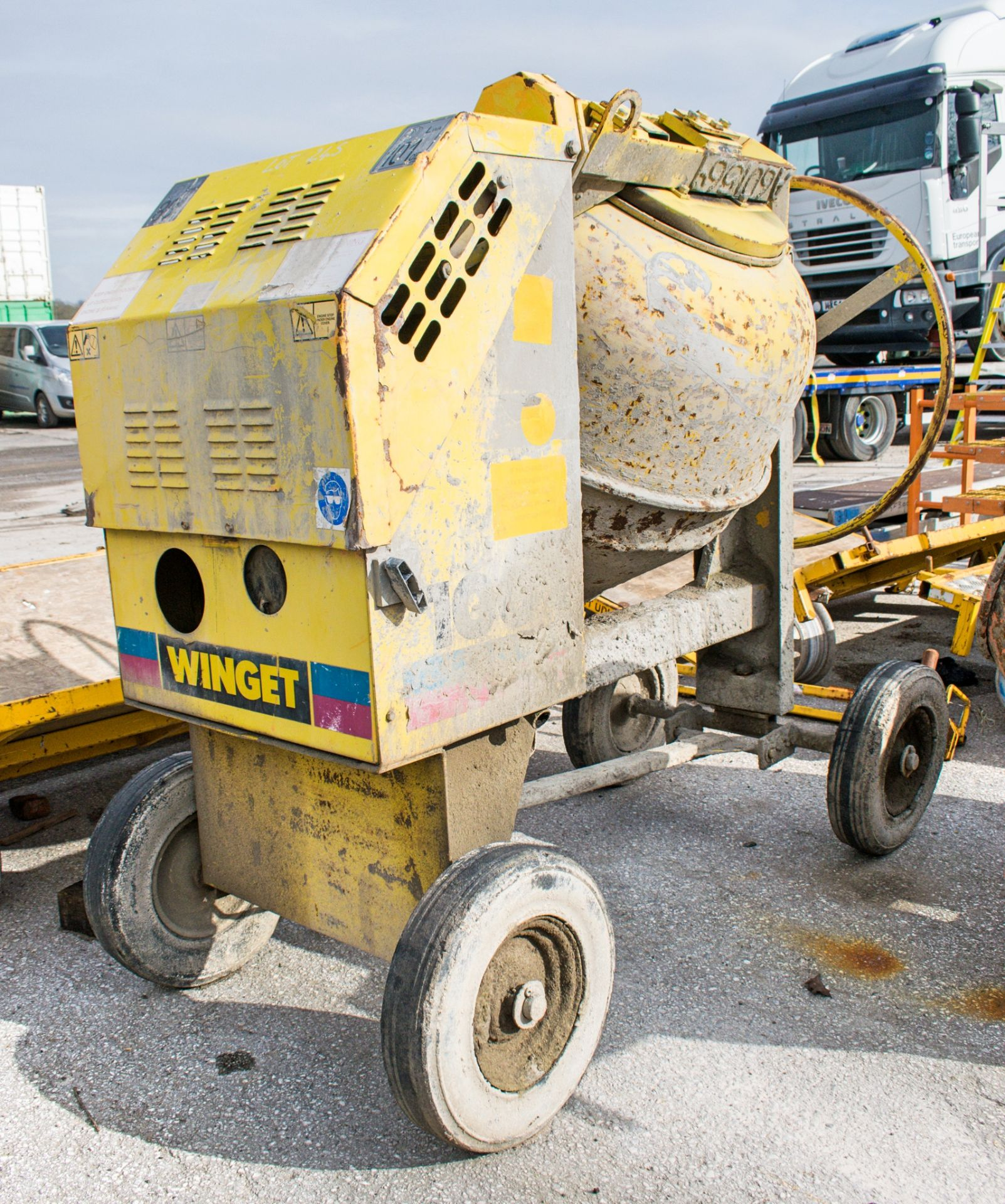 Lot 245 - Winget electric start diesel driven site mixer A601569