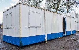32 ft x 10 ft steel anti vandal jack leg office site unit BBA1486 ** No doors **