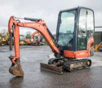 Kubota KX016.4 1.6 tonne rubber tracked mini excavator Year: 2014 S/N: 58172 Recorded hours: 1569