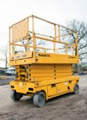 Haulotte Compact 12 battery electric scissor lift access platform Year: 2010 S/N: CE143597