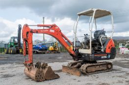 Kubota KX36-3 1.5 tonne rubber tracked mini excavator Year: 2004 S/N: 2Z055715 Recorded Hours: