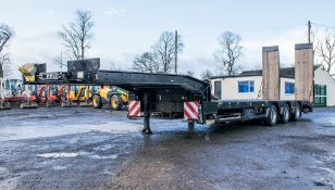 Faymonville STN-3U 13.6 metre step frame tri-axle low loader trailer  Year: 2010 S/N: 309100009291