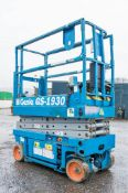 Genie GS1930 battery electric scissor lift access platform Recorded Hours: 432 08837005