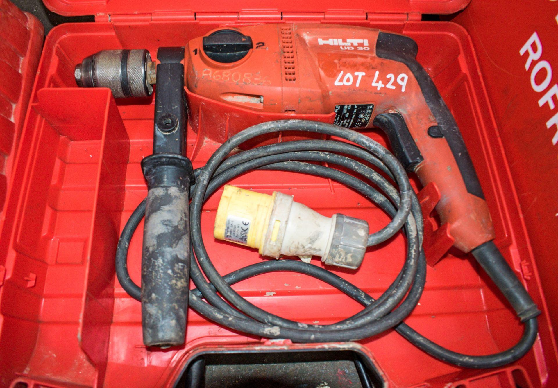 Lot 429 - Hilti VD-30 110v hammer drill c/w carry case