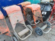 3 - Belle Minimix 110v cement mixers ** No drums **
