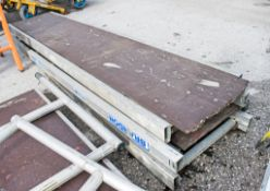3 damaged aluminium staging boards