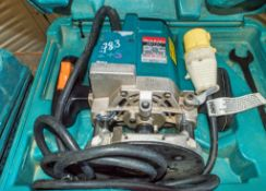 Makita 110v router c/w carry case