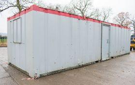 32 ft x 10 ft steel anti vandal office site unit c/w keys A440044