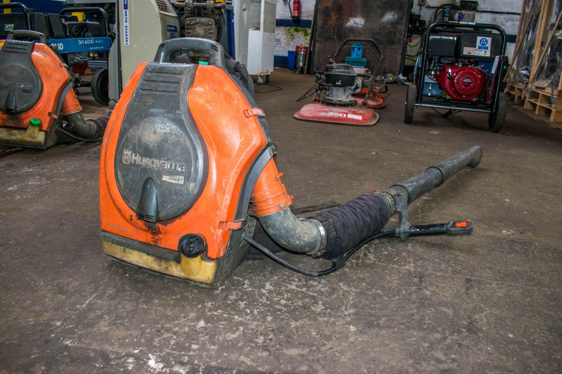 Lot 558 - Husqvarna petrol driven back pack leaf blower