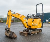 JCB 8008 0.8 tonne rubber tracked micro excavator Year: 2003 S/N: E01006000 Recorded Hours: 1186