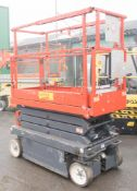 Sky Jack battery electric 8 metre scissor lift access platform Year: 2009 S/N: 22013331 Recorded