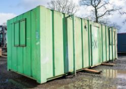 24 ft x 9 ft steel anti vandal jack leg office site unit Comprising of: Lobby & 2 rooms c/w keys