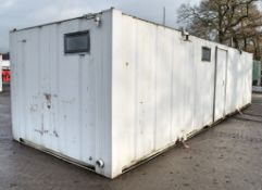 32 ft x 10 ft steel anti-vandal toilet/changing room site unit Comprising of: Lobby, Kitchen