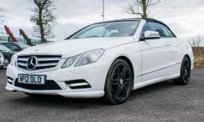 Mercedes Benz E250 sport CDI diesel convertible car Registration number: WP12 OLO Date of