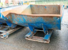 Conquip steel tipping skip A754991