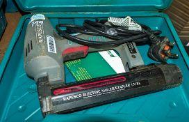 Rapesco 240v staple gun c/w carry case