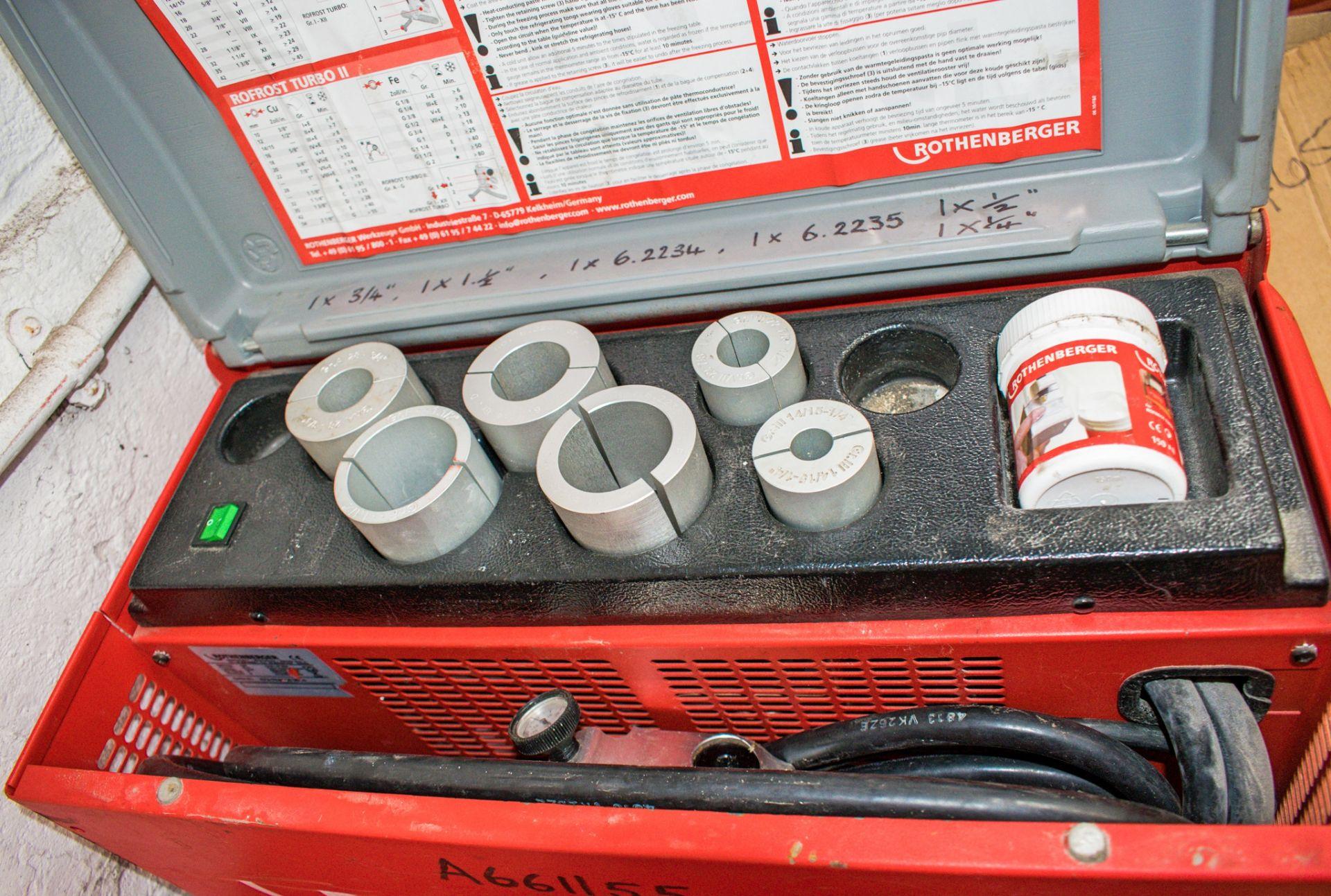 Lot 427 - Rothenberger 110v pipe freezing kit A661155