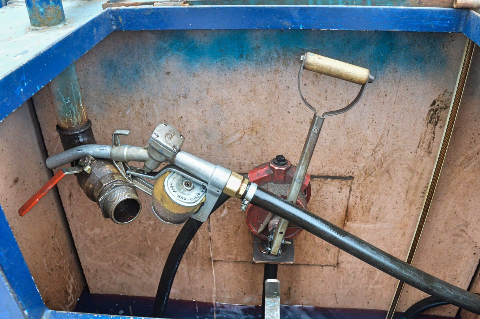 Lot 63 - 500 gallon static bunded fuel bowser c/w hand pump, delivery hose & nozzle
